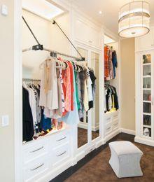 Drop Down Clothing Rack Smart Closet Closet Designs Pull Down Shelf