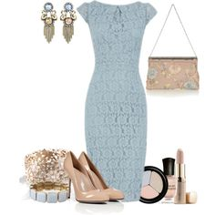 blue lace dress | blue lace dress - Polyvore
