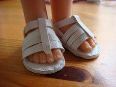 Patron et tuto sandales poupées