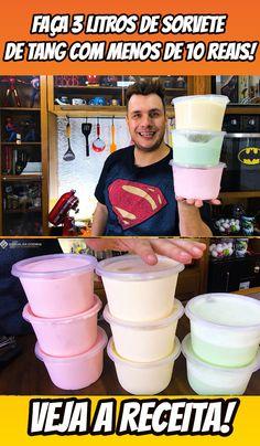 APRENDA A FAZER 3 LITROS DE SORVETE DE TANG COM MENOS DE 10 REAIS!  #sorvete #sorvetedetang #tang #gelato #receita #manualdacozinha