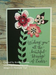 Botanical Blooms Easter, Stampin' Up 2016 Occasions Catalog, by Krista Thomas, www.regalstamping.com