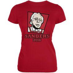 Election 2016 Kentucky Fried Bernie Sanders Red Juniors Soft T-Shirt