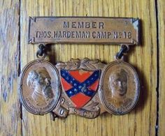 United Sons of Confederate Veterans Member Thomas Hardeman Camp No 18 Badge | eBay
