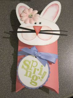 Love this bunny pillow box made with our cricut cartridge! Made by Tina Sutton- www.missgingerdots.com