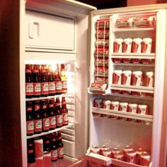 Refrigerator filled of Budweiser! Doesn't get any better! #BeerLovesYou