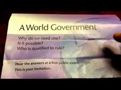 Jehovah's Witnesses now advocating the New World Order. - YouTube