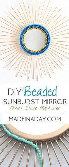 Beaded Sunburst Mirror   Made in a Day