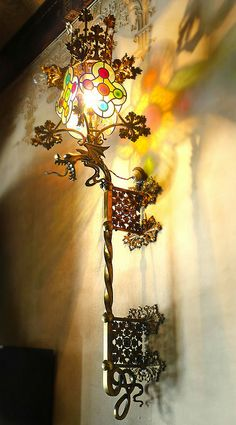 Antique lamp lighting the way in Barcelona, Spain. Art Nouveau, Art Deco, Residence Architecture, Barcelona Architecture, Gaudi, Lamp Light, Light Up, Street Lamp, Antique Lamps