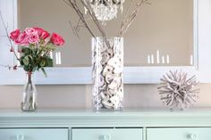 Southern Soul Mates: Oyster Shell Mirror & Chandelier DIY