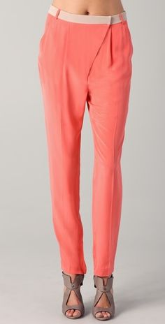 Tibi // Skinny pants/ love the asymetrical lines on these pants.