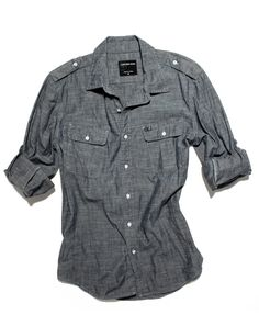 GQ.com: Calvin Klein Jeans chambray shirt $69.50, available at select Macy's locations nationwide. For a complete list of store locations, go to www.macys.com .