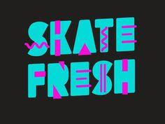 1980, skateboarding, type in TYPE