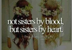 """My quote """"sister by heart but not an enemy forever together """"-Best Friends"""