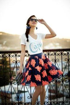 Pome Blossom Skirt by Maeve Navy 12 Skirts
