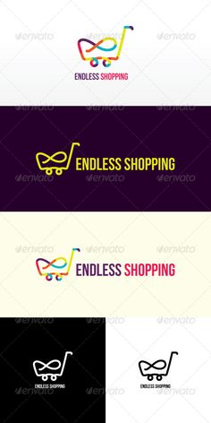 Endless Shopping Stock Logo Template by vecras Clean and smooth lines creating colorful shopping cart shape with infity symbol This graphic is representing shopping, variety, fu Graphic Design Trends, Logo Design Inspiration, Web Design, Logo Design Template, Logo Templates, Shopping Cart Logo, Supermarket Design, Logo Shapes, Marketing Logo