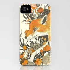 fox in foliage--by Teagan White  IPHONE CASE / IPHONE (4S, 4)  --$35.00