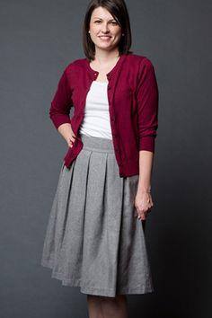 Modest Wool Pleated Skirt | $41.99 #modestskirt #sistermissionaryfashion #modestwoolskirt