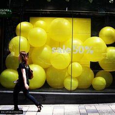 #Decorar #escaparates con globos
