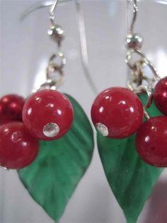 Christmas Holly Earrings