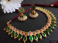 Gorgeous Kerala style necklace set