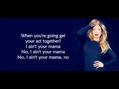Jennifer Lopez -Ain't Your Mama (Lyrics) - YouTube