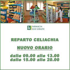 Da lunedì 18 novembre il reparto celiachia della nostra farmacia avrà un nuovo orario!  #farmaciaallegrazie #farmacia #bassano #reparto #celiachia