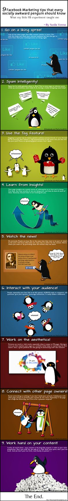 9 FaceBok marketing tips that every socially awkward penguin should know #infographic