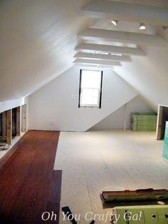 Attic remodel viny plank flooring easy DIY