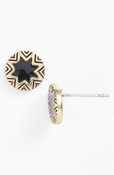 Sunburst stud earrings.