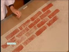 How to Make a Brick Stamp with Sponges, Part 2 Videos | Crafts How to's and ideas | Martha Stewart