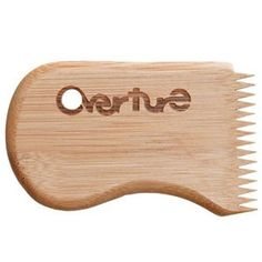 OVERTURE BAMBOO SURF WAX COMB - While it's something I have no use for because I'm not a surfer, I love the design, and I love bamboo products.