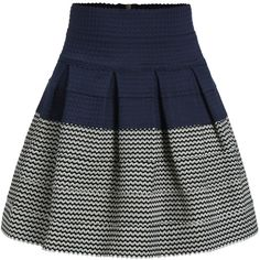 High Waist Color-block Zipper Flare Skirt ($14) ❤ liked on Polyvore featuring skirts, multicolor, stretch skirt, color block skirt, high waisted short skirts, high waisted flared skirt and flare skirt