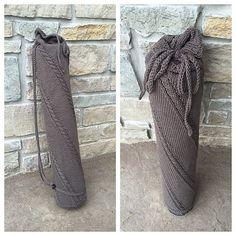 Handmade Knit Yoga Mat Bag