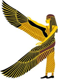 Egyptian Stencils - Winged Isis - Egyptian Stencil of Winged Isis for Home Decor.