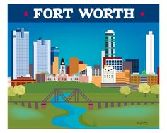 Fort Worth comes in an array of finishes, materials, and sizes, this retro inspired wall art will make feel close to your heart with its bright color palette and unique design. You can start with one