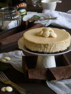 RECELANDIA: Cheesecake de chocolate blanco y baileys