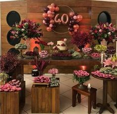 Decoracion para Fiesta de mujeres de 40 40th Birthday Decorations, 40th Birthday Parties, Baby Shower Decorations, Tropical Party, Ideas Para Fiestas, Birthday Design, Event Decor, Party Planning, Party Time