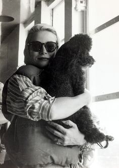 Grace Kelly and her poodle Oliver arrive in Monaco from the US by -Look Back at Monaco's Last Royal Wedding With Grace Kelly.