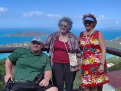 Azer, Mom and Rita on St. Thomas, VI