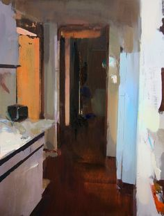 Interior #115 - Oil on wood, 60 x 45 cm. Private collection.