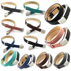 For Fitbit Alta Fashion Double Tour Genuine Leather Watch Band Strap Bracelet | eBay