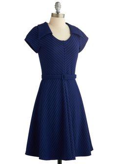 To a Tee Time Dress in Navy | Mod Retro Vintage Dresses | ModCloth.com