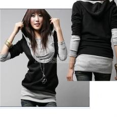 2017 Rushed O-neck Pullovers Broadcloth Solid Full Hot Korea Womens Lady Long Sleeve Cotton Tops Dress Hoodie Coat Fashion Hoodie Sweatshirts, Sweat Shirt, Pullover Mode, Mode Mantel, Dress Link, Shirt Bluse, Hoodie Dress, Korean Women, Sweater Fashion