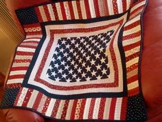 QUILTED AMERICANA DECOR Rally around the Flag on by AuntiJoJos, $55.00