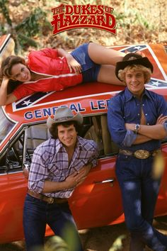 Vintage Cars Dukes of Hazzard TV Show Cast Rare Vintage Poster - A great Dukes of Hazzard poster - Bo, Luke, Daisy, and the General Lee from the classic TV Show! 80 Tv Shows, Old Shows, Great Tv Shows, 1970s Tv Shows, Childhood Tv Shows, My Childhood Memories, Movies And Series, Movies And Tv Shows, Hollywood