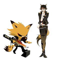 Yaiba- Show By Rock Band: Shingan Crimsonz Animal: Fox