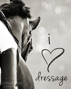 Items similar to I love Dressage typography print, Dressage photography, Horse inspirational saying, Horse typography, on Etsy Equestrian Quotes, Equestrian Fashion, Equestrian Style, Dressage Horses, Draft Horses, Horse Quotes, White Horses, Equine Photography, Horse Love