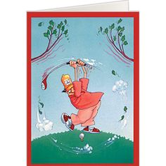 Belated Birthday Golf Card Cards Greeting Discount