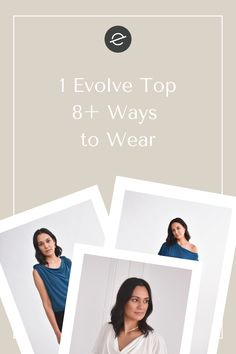 The epitome of effortlessness. A simple, yet elegant top that you can throw on with just about anything and look polished, put together and chic. With 8 completely different styling options, the Evolve Top has your back for any occasion. Comfy Work Outfit, Work Outfits, Fall Outfits, Summer Outfits, Vegan Fashion, Slow Fashion, Women's Fashion, Ethical Fashion Brands, Ethical Clothing