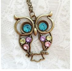 So cute! Love owl jewelry.